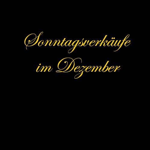 "<h4 class=""fashion-post"">Sonntagsverkäufe</h4>11. & 18.12.2016"